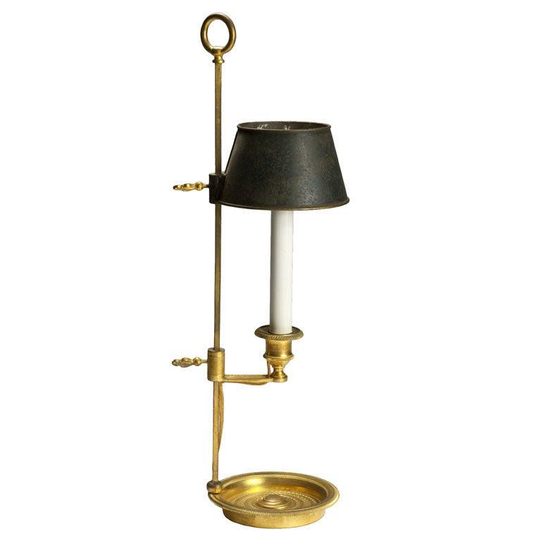 Rare Empire Ormolu And Tole Bouillotte Lamp At 1stdibs