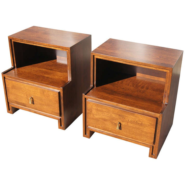 Pair Of Nightstands By Russel Wright For Conant Ball At
