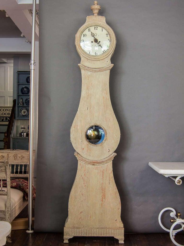 Swedish Tall Case Mora Clock Circa 1800 For Sale At 1stdibs
