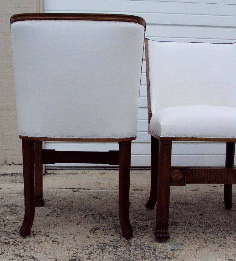 Set Of 8 Swedish Art Deco Gothic Revival Dining Chairs At