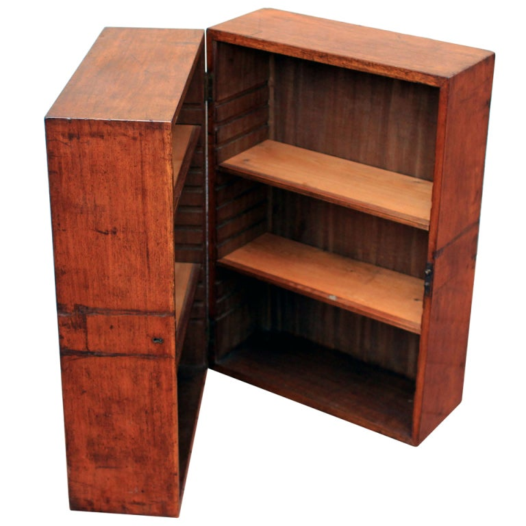 Rare Campaign Book Cabinet Mid 19th Century At 1stdibs