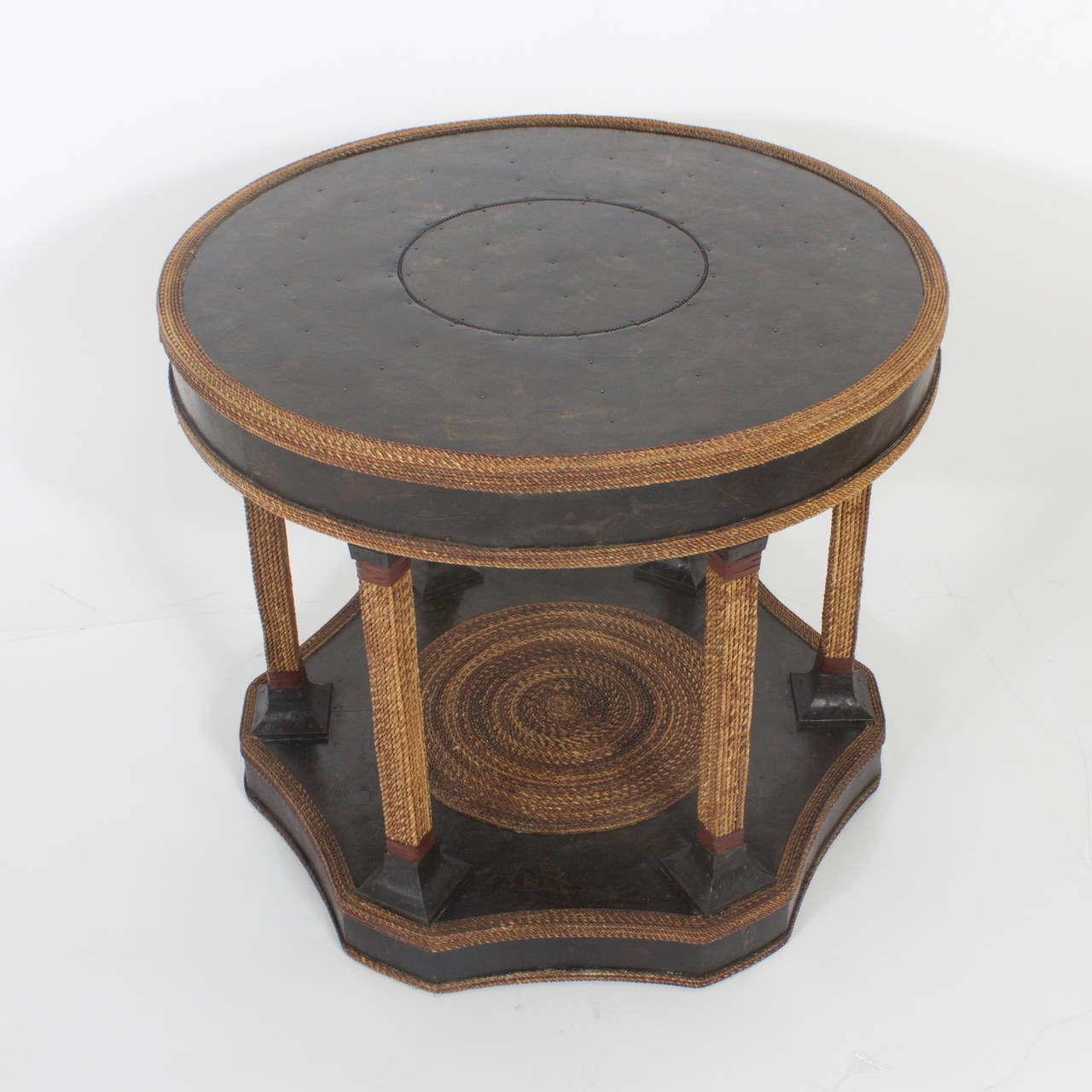 Maitland Smith Round Rope Table At 1stdibs