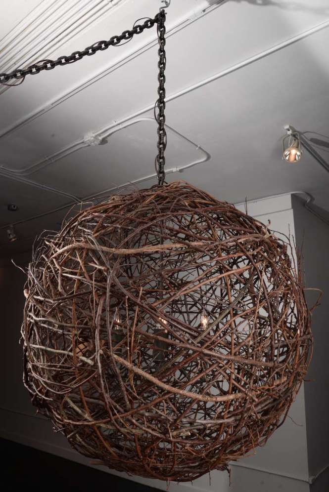 Twig Sphere Chandelier 2