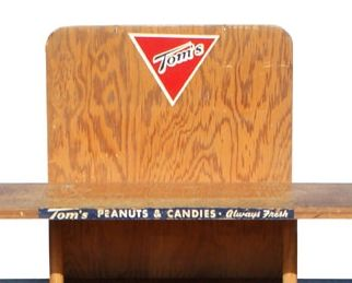 Vintage Toms Peanuts Wooden Display Stand For Sale At 1stdibs