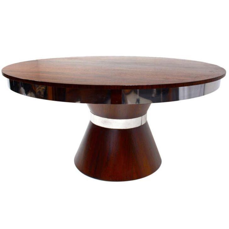 Custom Mid Century Modern Round Dining Table Longer
