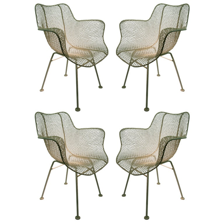Set Of Four Outdoor Chairs By Russell Woodard At 1stdibs