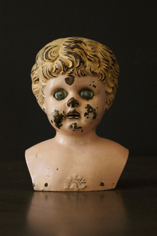 Collection Of Graduated Tin Doll Heads At 1stdibs