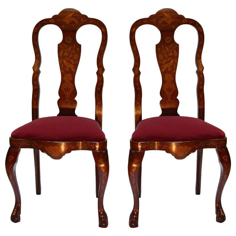 Queen Anne Cherry Dining Room Chairs