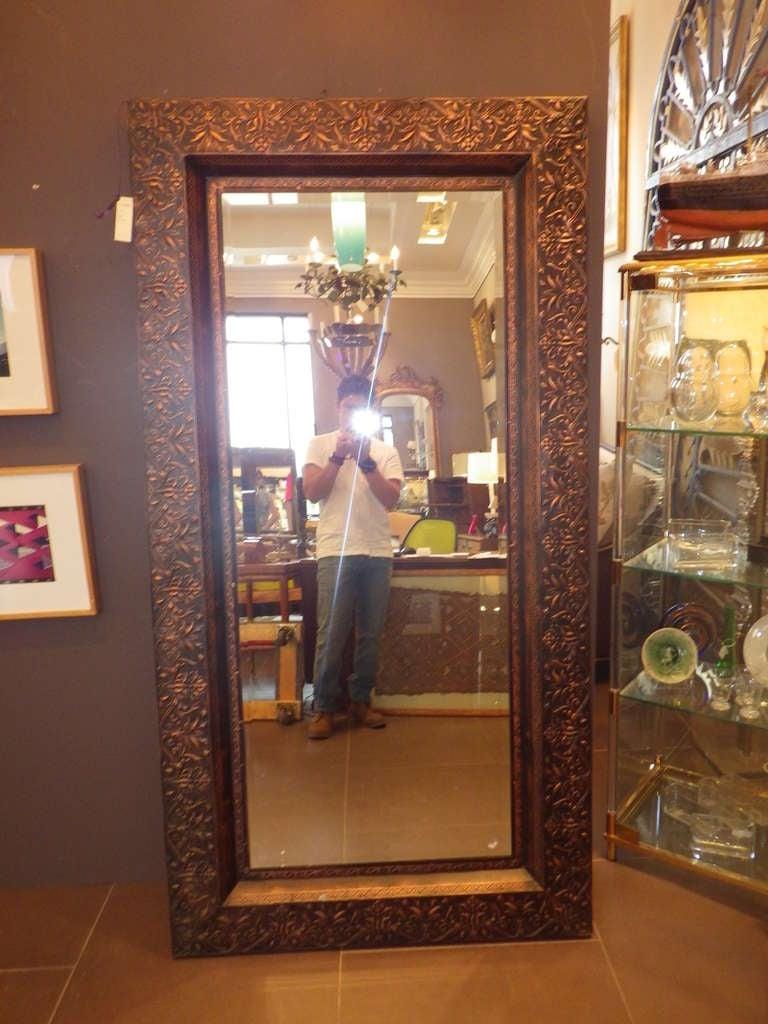 Large Copper Framed Mirror At 1stdibs