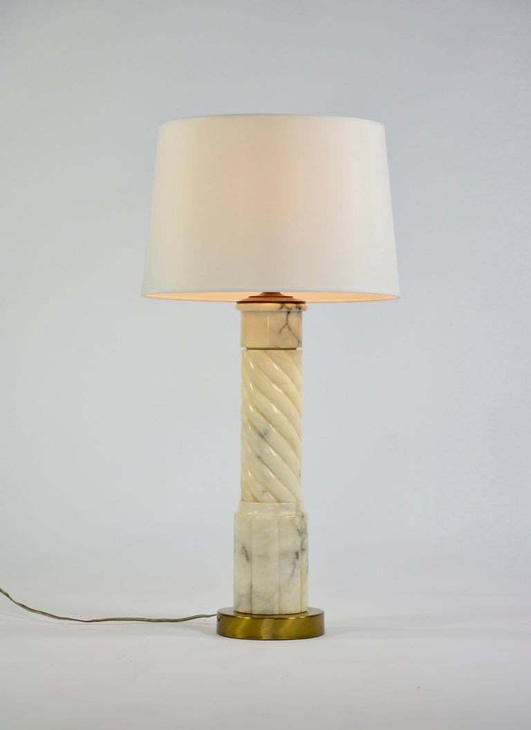 Classic Alabaster Table Lamp At 1stdibs