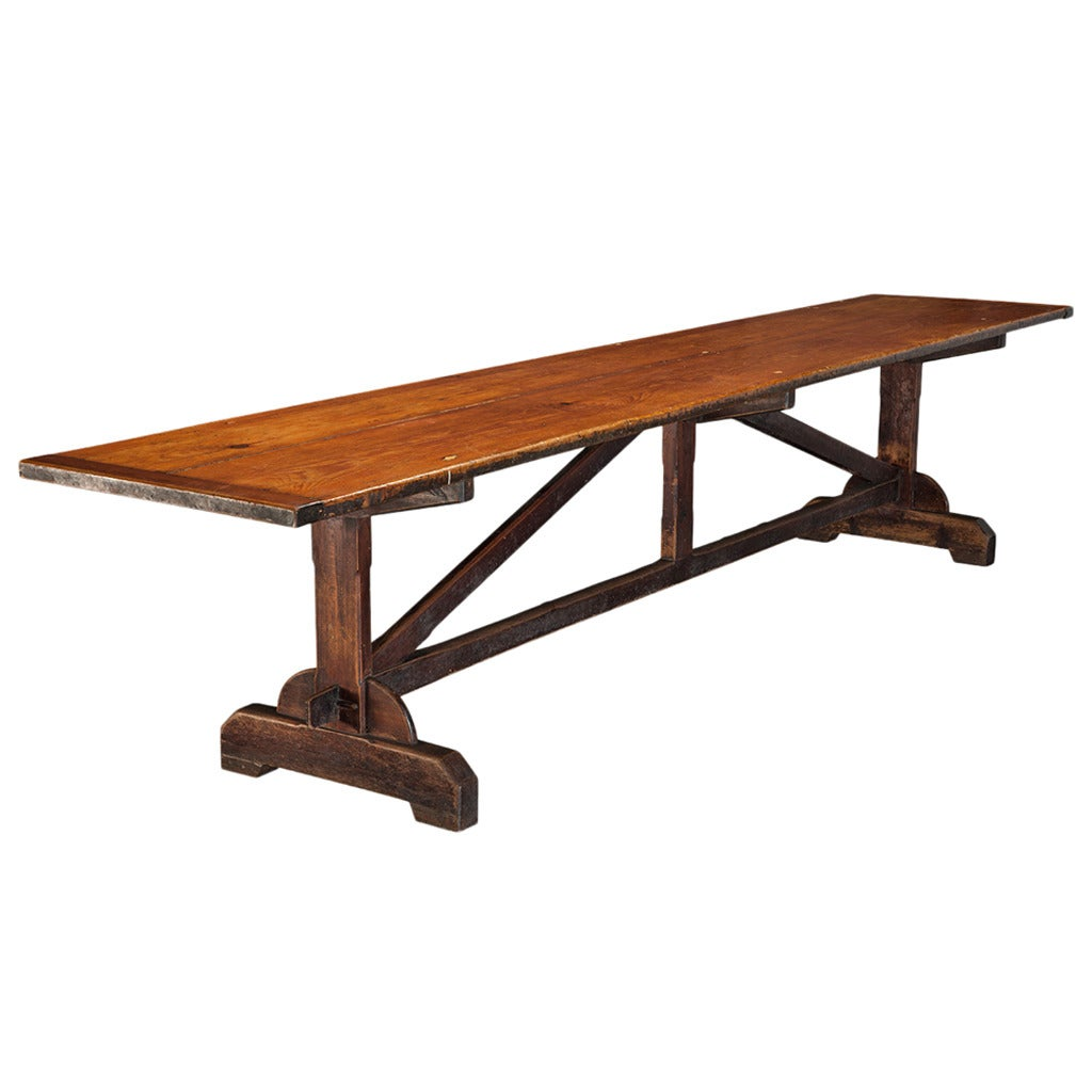 Large Cathedral Refectory Table At 1stdibs