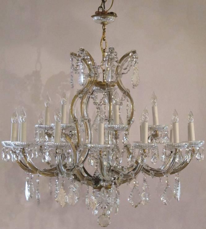 Large Maria Theresa Twenty Two Light Chandelier 2