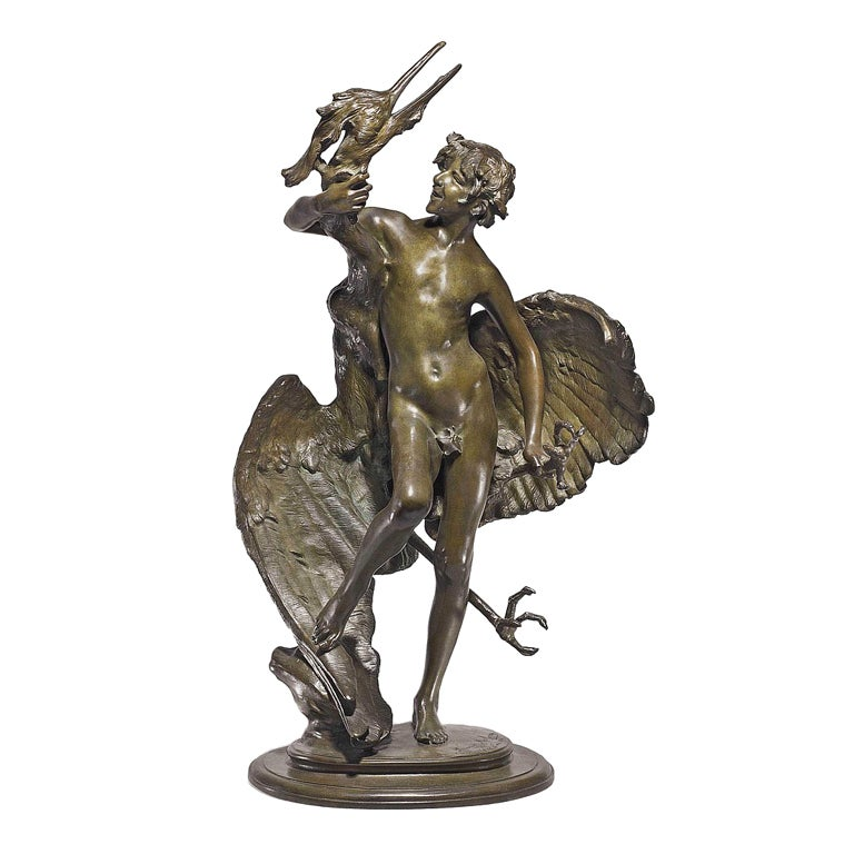 Fawn And Heron Bronze By Frederick MacMonnies At 1stdibs