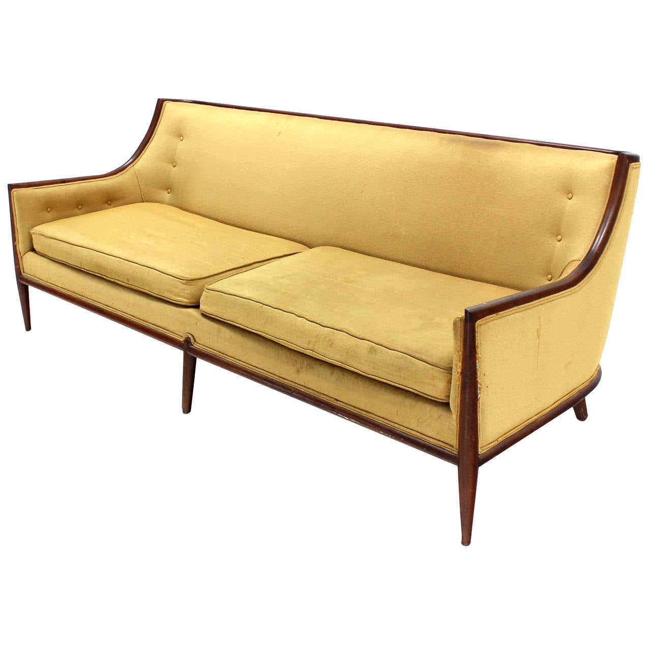 Mid Century Modern Walnut Frame Sofa At 1stdibs