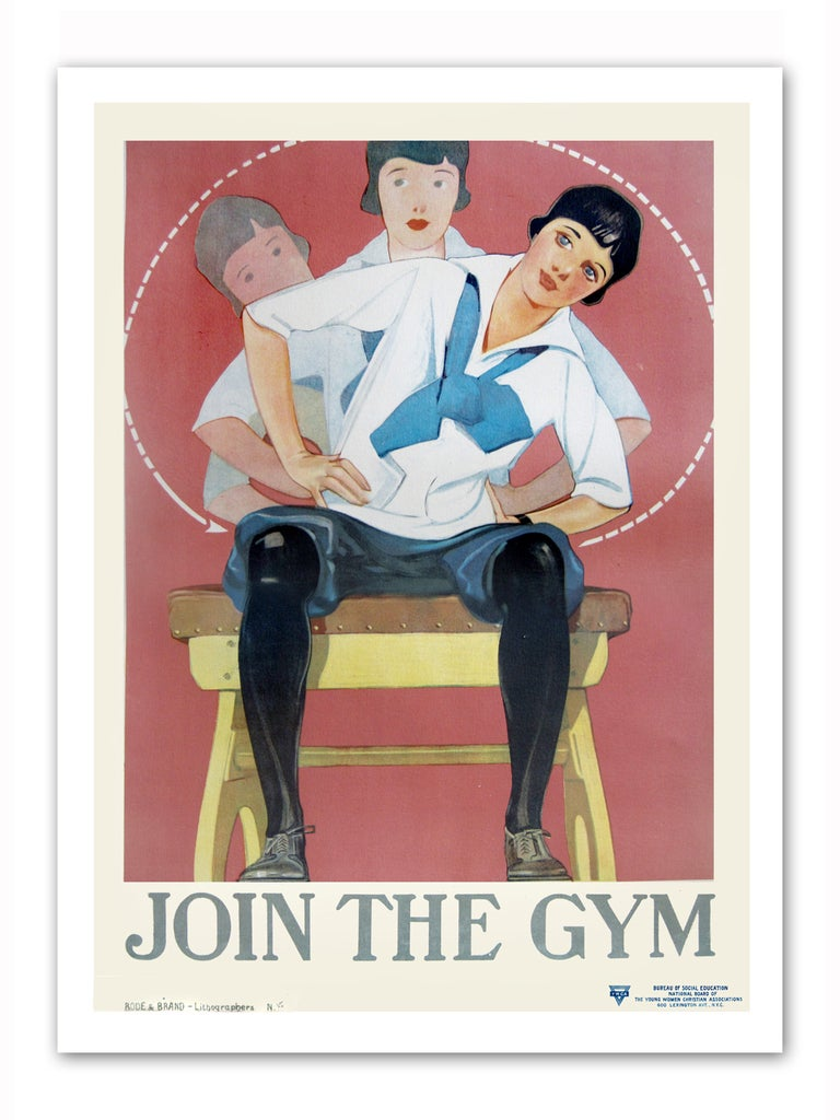 Unique Join The Gym 1920s YMCA Poster Fitness For Woman