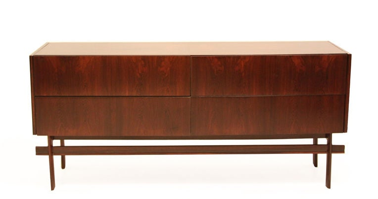 Simple Rosewood Dresser By Novo Rumo Brazil At 1stdibs