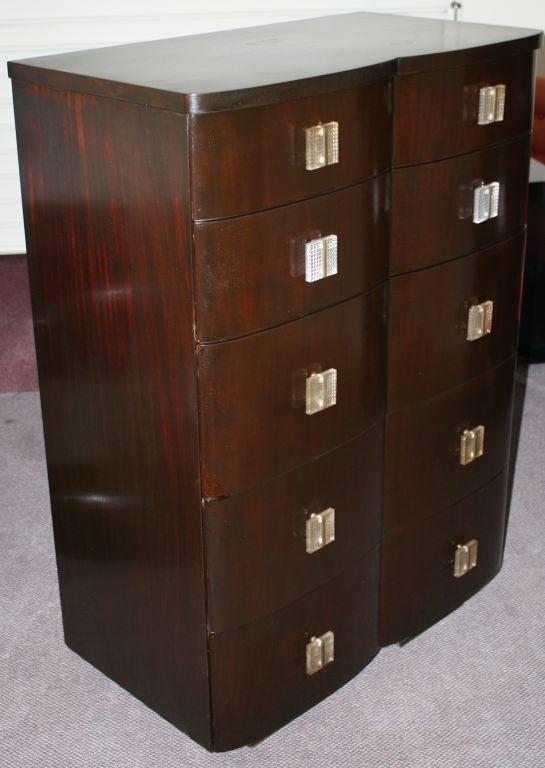 John Stuart Art Deco Mahogany Four Drawer Dresser At 1stdibs