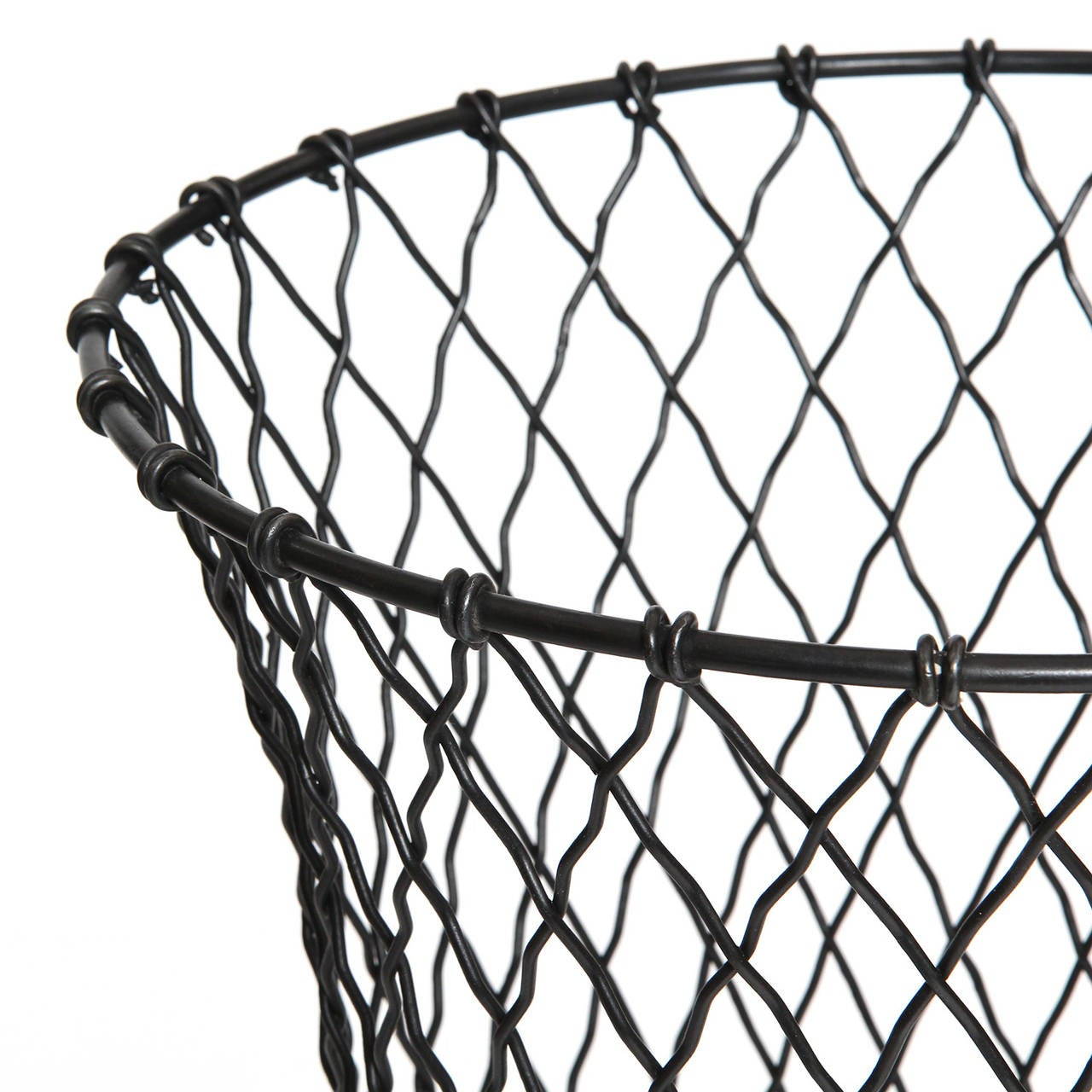 Industrial Wire Waste Basket At 1stdibs