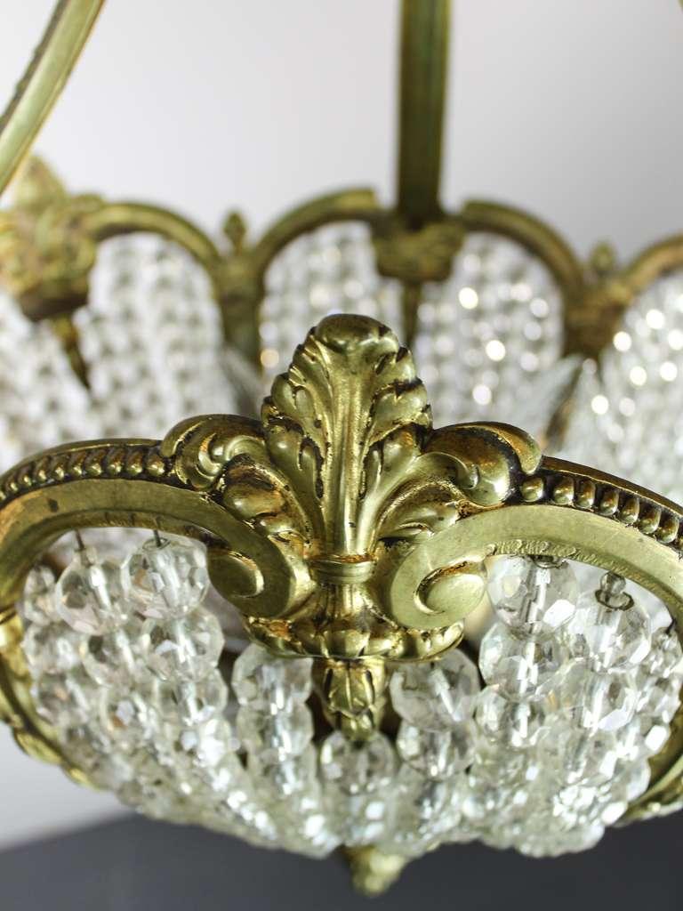 Antique Crystal Rams Head Basket Chandeiler For Sale At 1stdibs