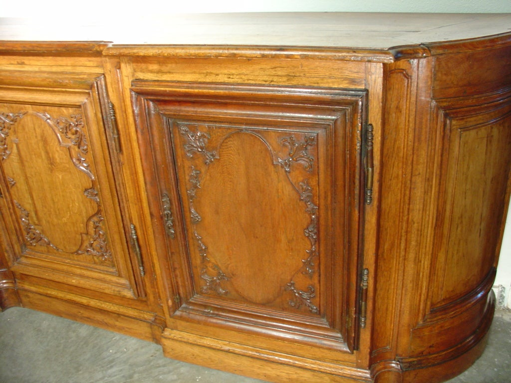 Antique Regence Style Oak Buffet From France 1800s At 1stdibs