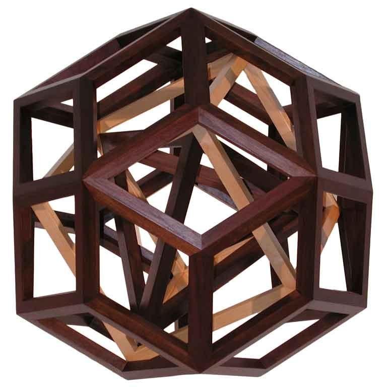 Geometric Wooden Sculpture At 1stdibs
