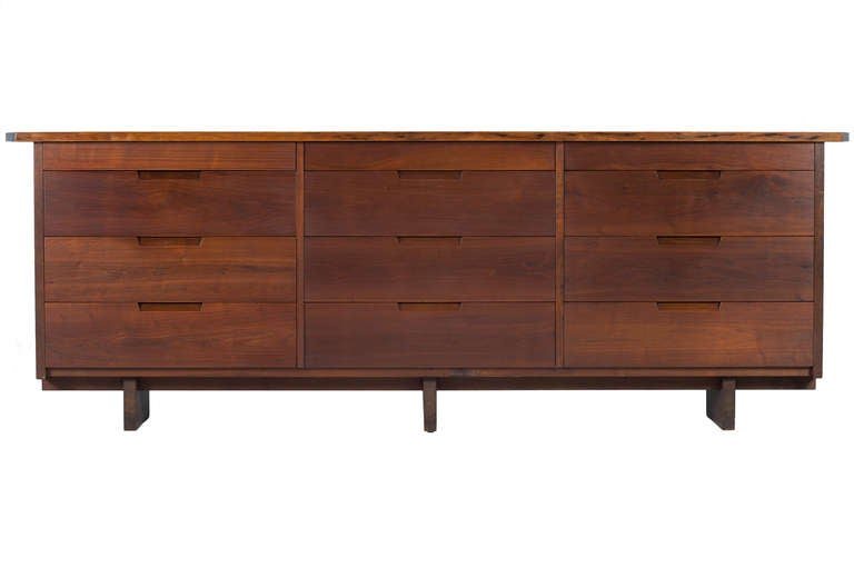 George Nakashima Triple Chest Of Drawers At 1stdibs