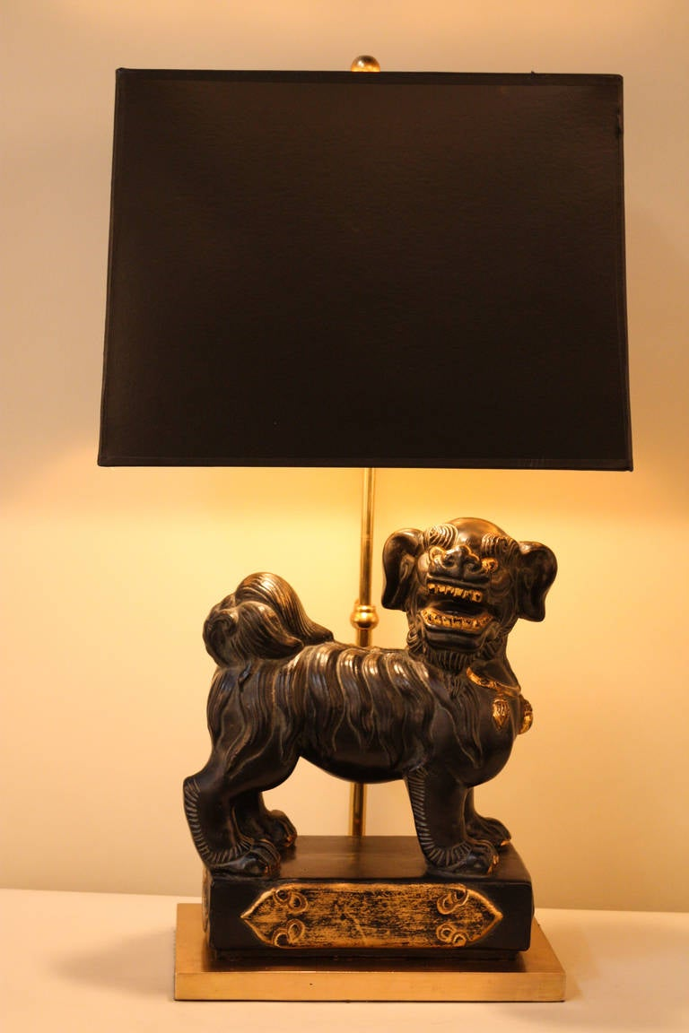 Chinoiserie Guardian Lion Lamp At 1stdibs
