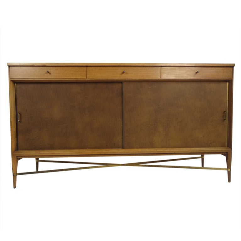 Paul McCobb Calvin Group Sliding Door Credenza At 1stdibs