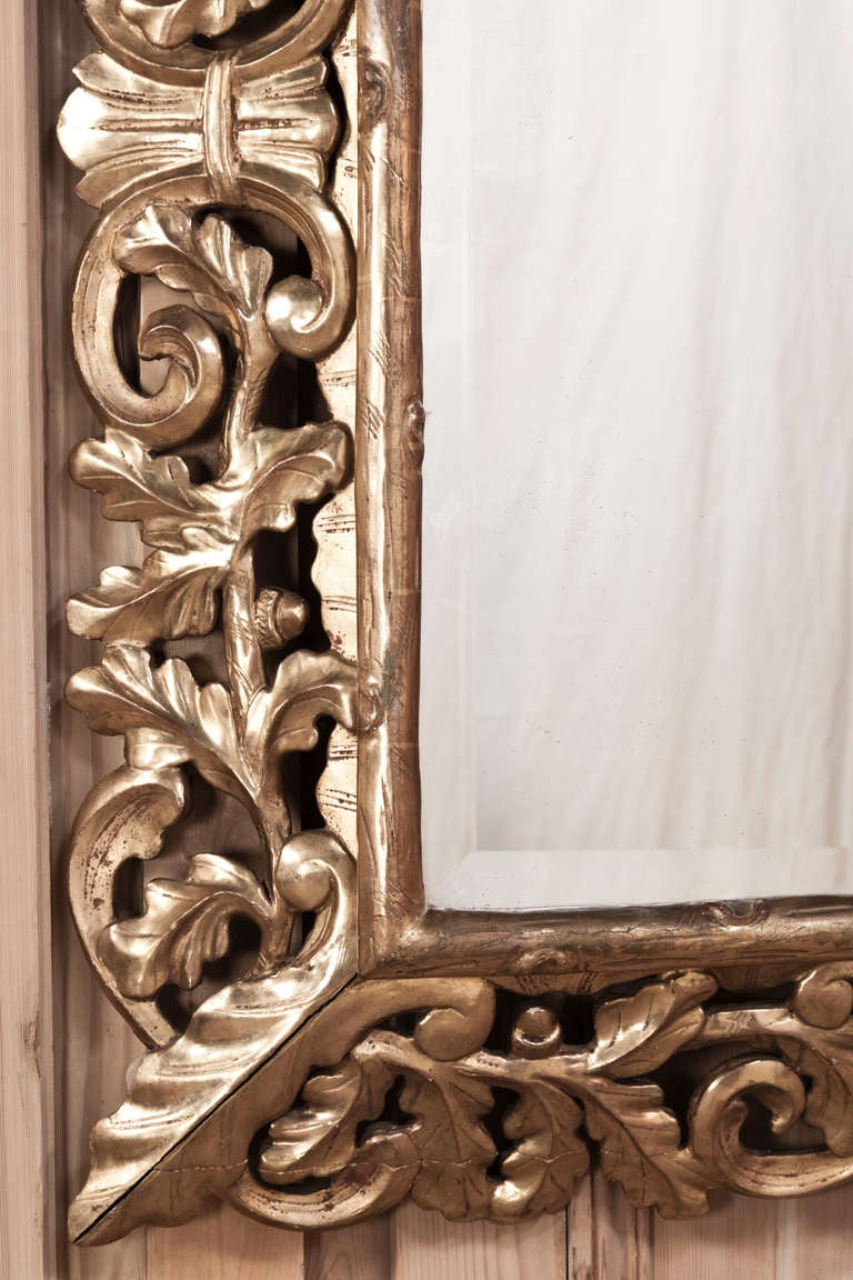 19th Century Italian Gold D Ore Over Hand Carved Wood