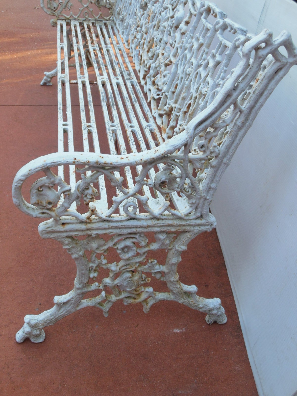 Antique Coalbrookdale Garden Bench In Cast Iron At 1stdibs