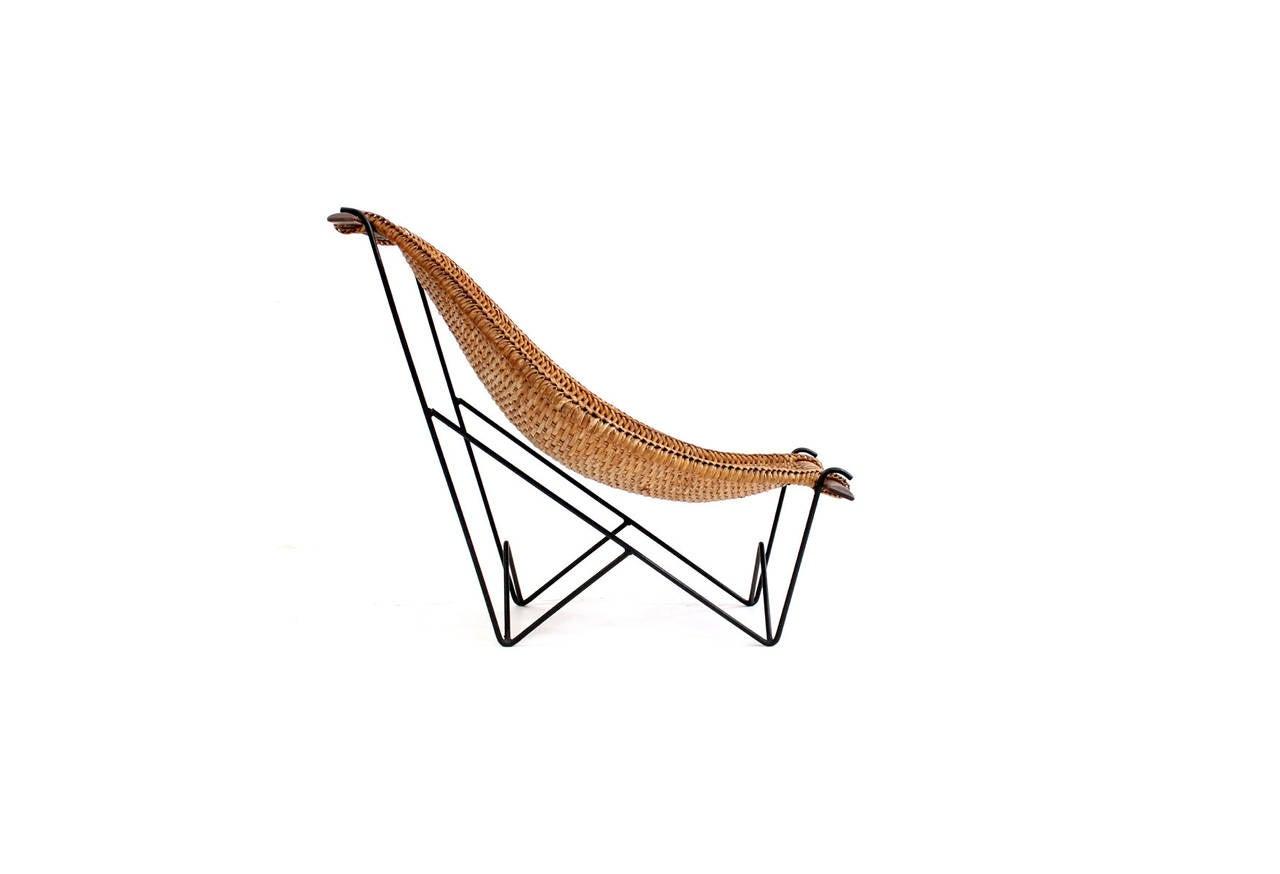 John Risley Rattan Duyan Lounge Chair At 1stdibs
