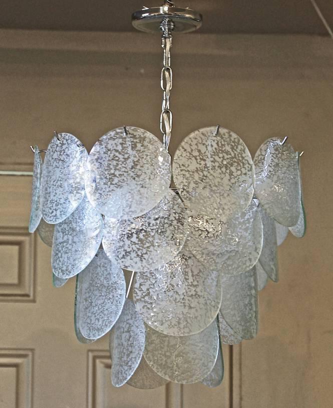 Italian Glass Disc Chandelier 2