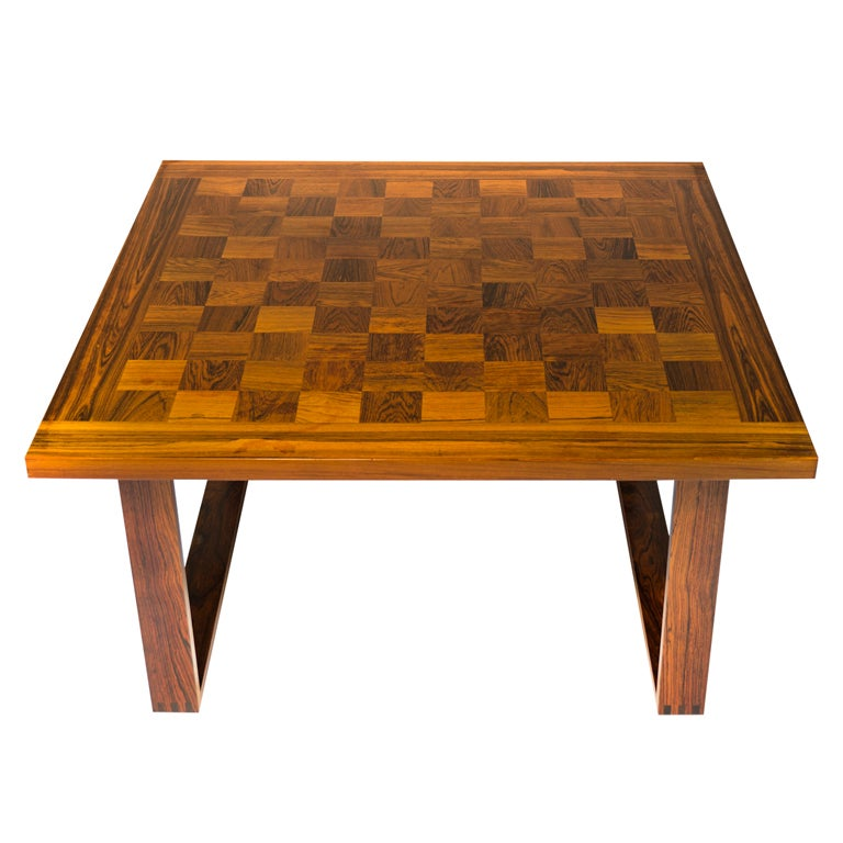 Rare Rosewood Poul Cadovius CHESS Table At 1stdibs