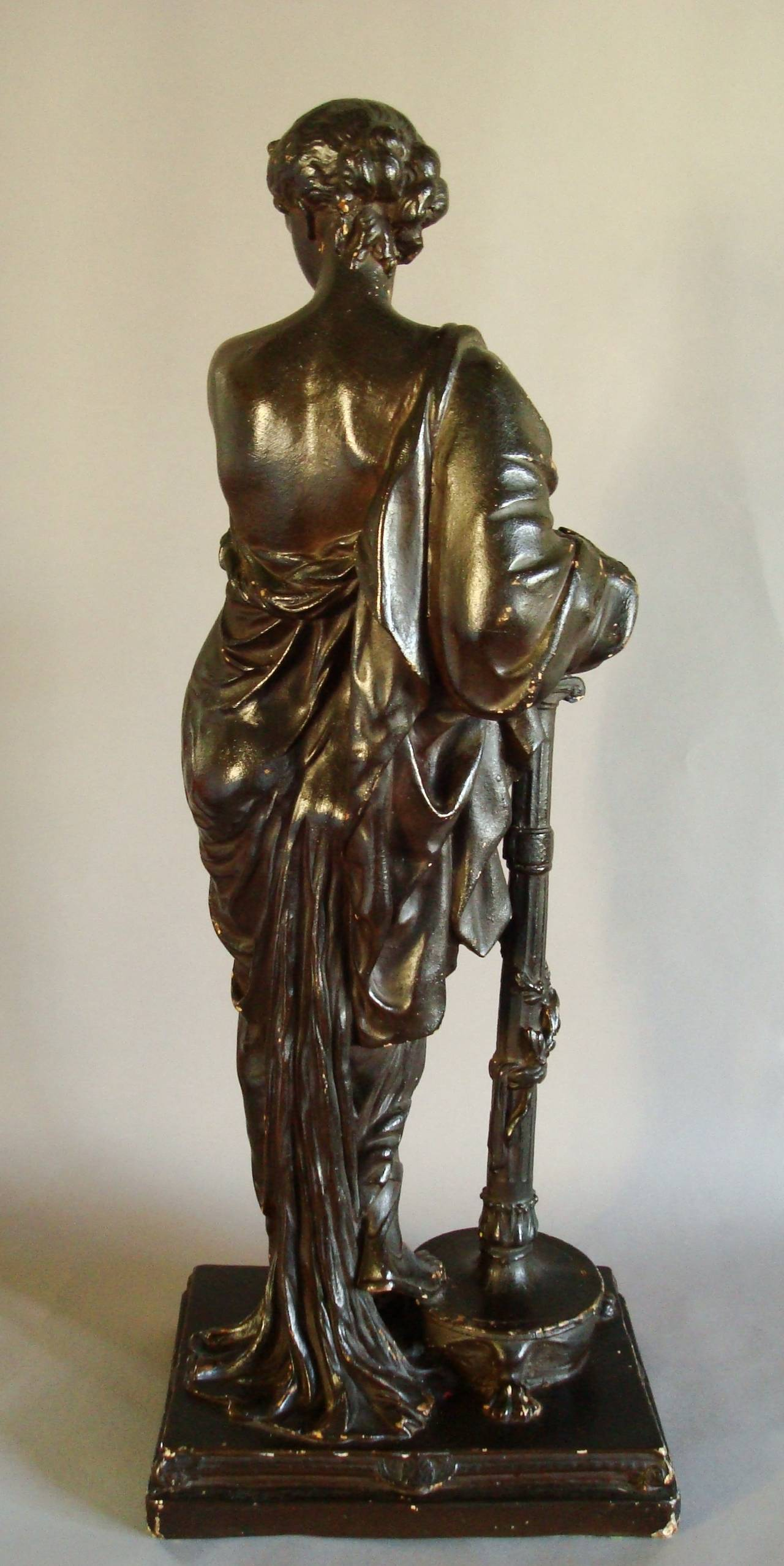 Regency Bronzed Sculpture Of A Classical Figure For Sale