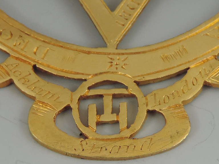 Rare Early 19th Century Masonic Gold Royal Arch Chapter