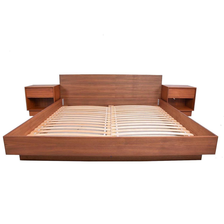 Danish Modern Teak Platfom Bed King Size Mid Century Modern At 1stdibs