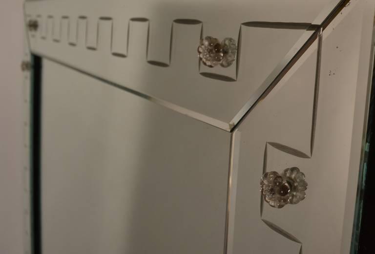 Venetian Style Mirror With Geometric Border Trim At 1stdibs