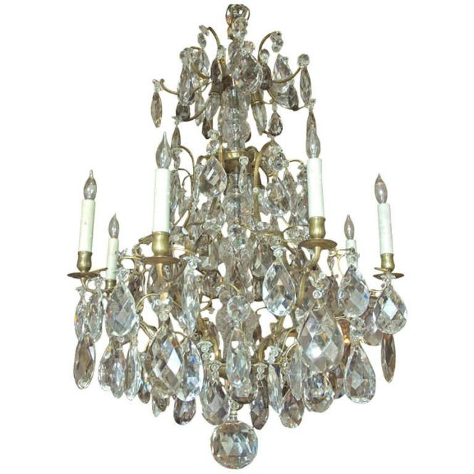 Rococo Style Swedish Crystal Chandelier With 16 Lights Circa 1910 1
