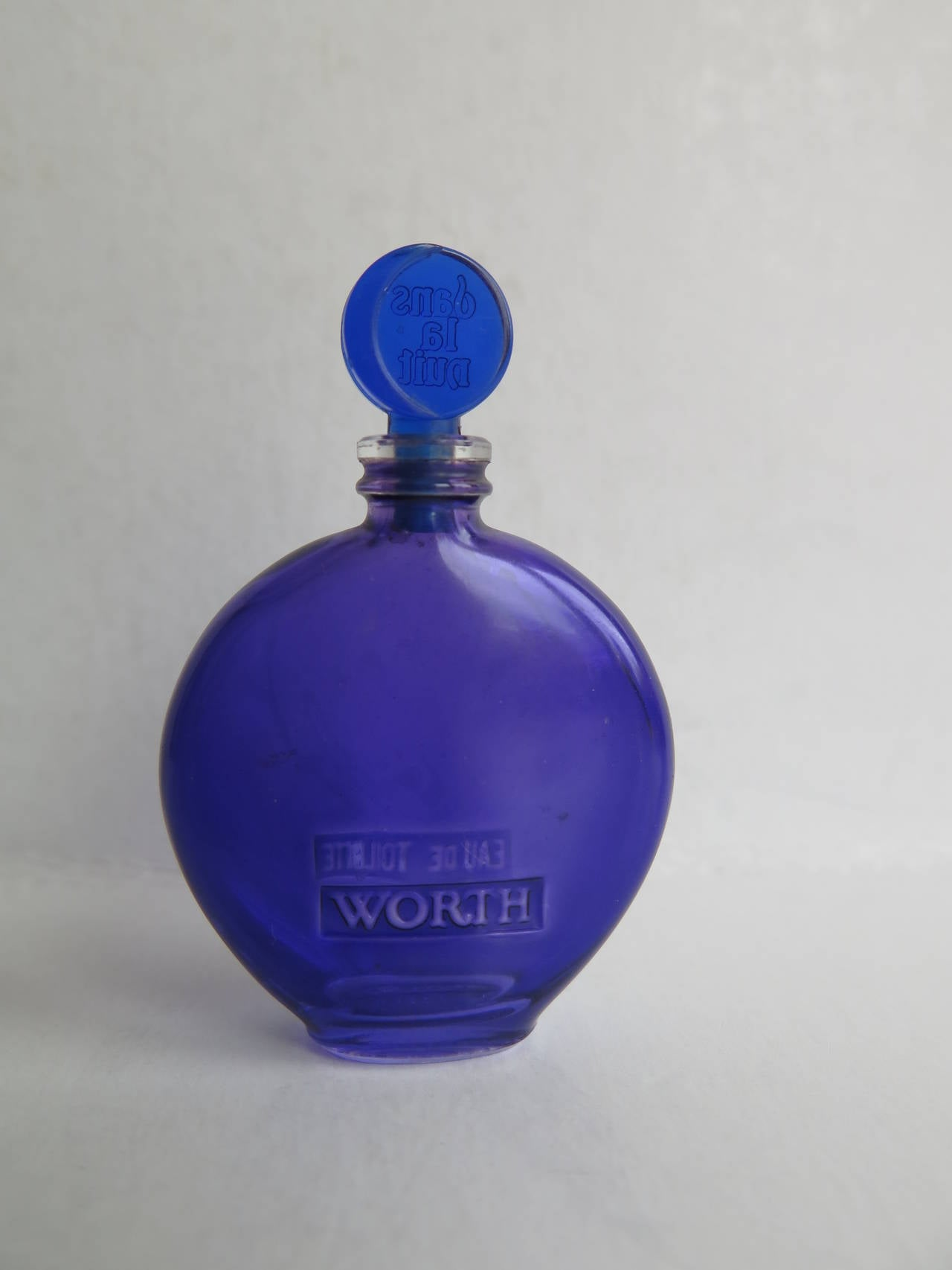 Vintage Worth LALIQUE Cobalt Glass Perfume Or Scent