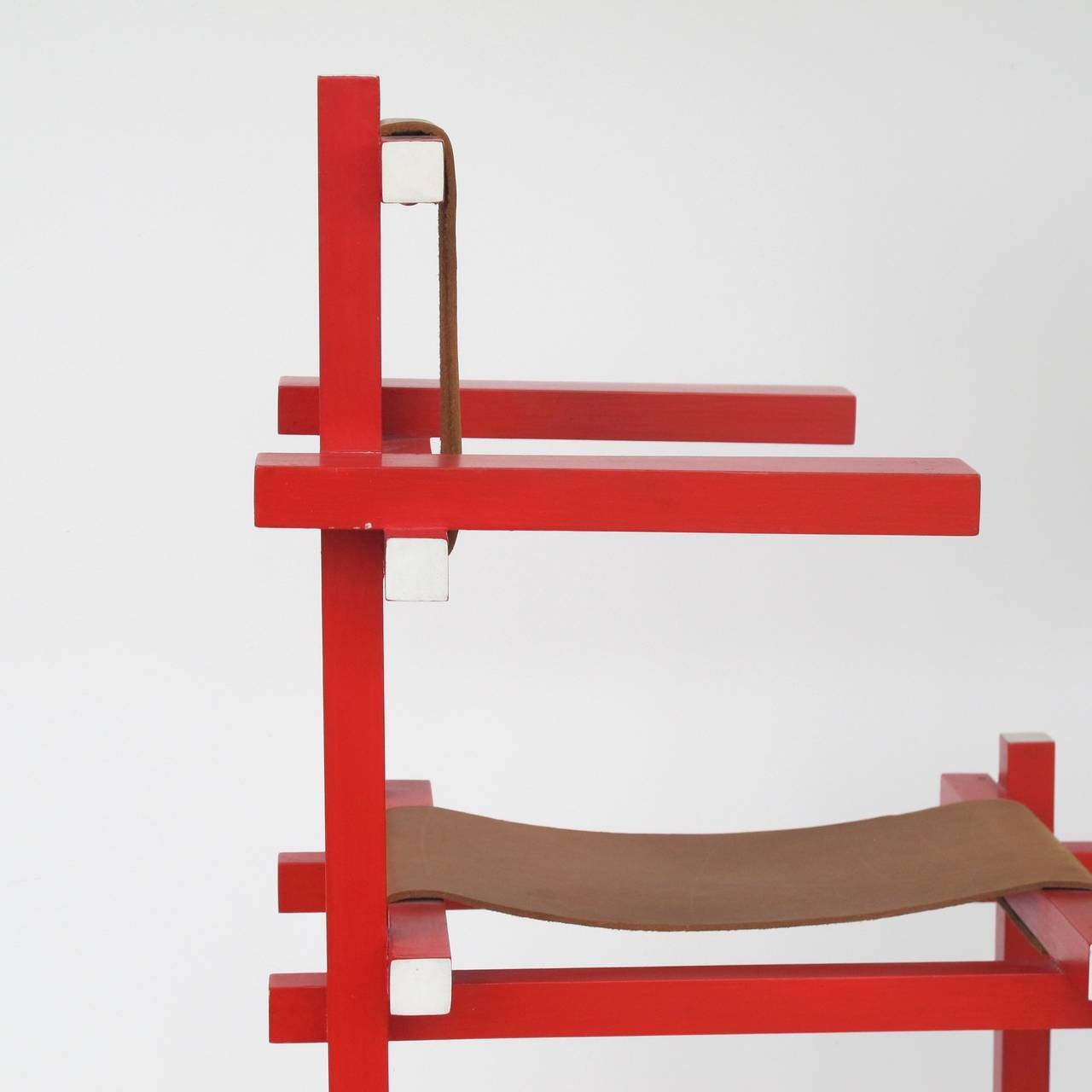 Gerrit Rietveld Rare Childrens High Chair By Gerard Van