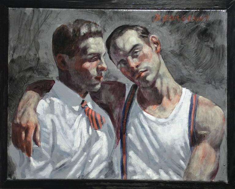 man with arm over another man