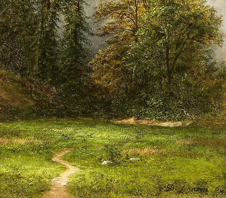 David Johnson Young Elms Painting For Sale At 1stdibs