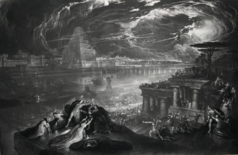 John Martin The Fall Of Babylon For Sale At 1stdibs