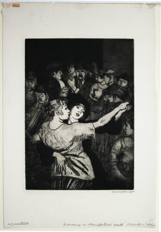 Dame Laura Knight Dancing On Hampstead Heath Print For