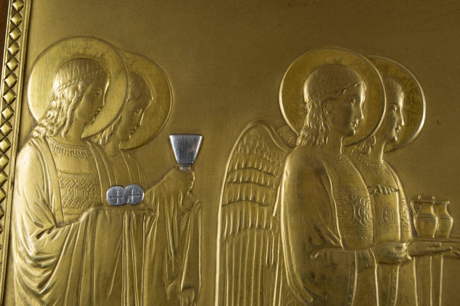 Tiffany Bas Relief Sculpture Of The Angels Of The Liturgy