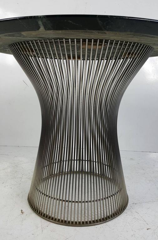 Warren Platner Side Table For Knoll Nickeled Steel Dark