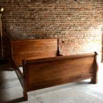 Antique Super King Size Sleigh Bed French Solid Oak Very Large At 1stdibs