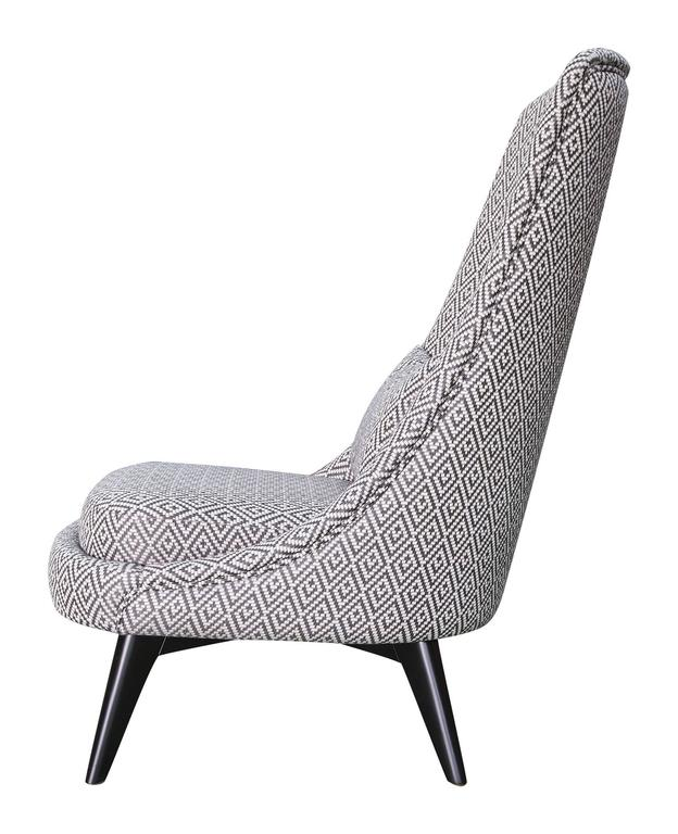 Grey And White Armchair