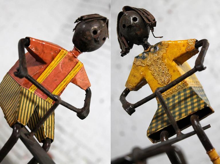 Mid Century Manuel Felguerez Sculpture Of Children On See