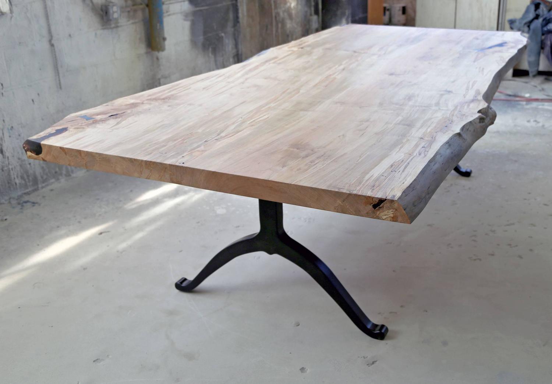 Sentient Signature Ambrosia Maple Live Edge Slab Table